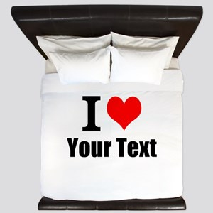 I Heart (your text here) King Duvet