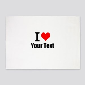 I Heart (your text here) 5'x7'Area Rug
