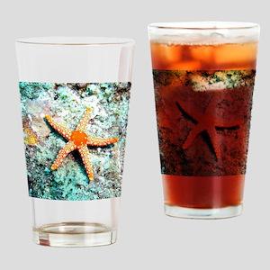 Pretty Starfish Drinking Glass