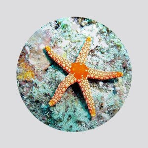 Pretty Starfish Round Ornament