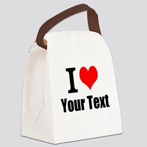 I Heart (your text here) Canvas Lunch Bag