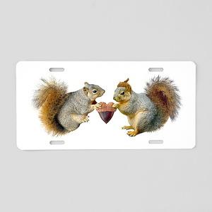 Squirrels Acorn Heart Aluminum License Plate