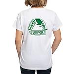 Green Surfers Women's V-Neck T-Shirt