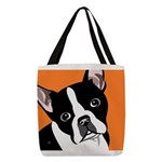 Boston Terrier Polyester Tote Bag