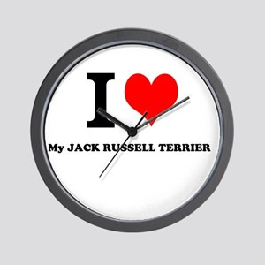 I Love My JACK RUSSELL TERRIER Wall Clock