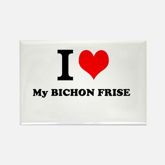 I Love My BICHON FRISE Magnets