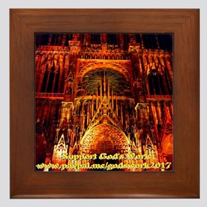 Support God's Work Framed Tile