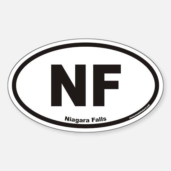 Niagara Falls NF Euro Oval Decal