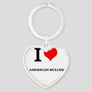 I Love My AMERICAN BULLDOG Keychains