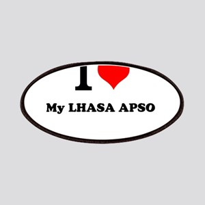 I Love My LHASA APSO Patch