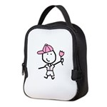 Boy & Pink Ribbon Neoprene Lunch Bag