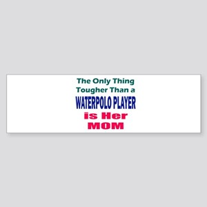 Her Tough Water Polo Mom Sticker (Bumper)