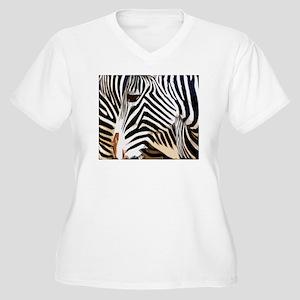Stripes Women's Plus Size V-Neck T-Shirt