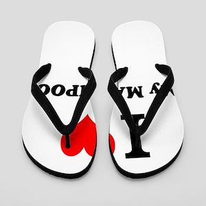 I Love My MALTIPOO Flip Flops