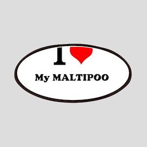 I Love My MALTIPOO Patch