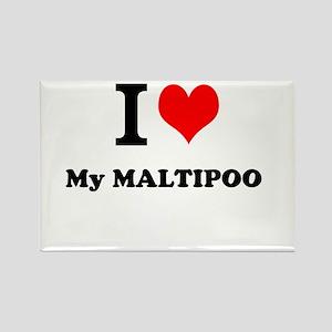 I Love My MALTIPOO Magnets
