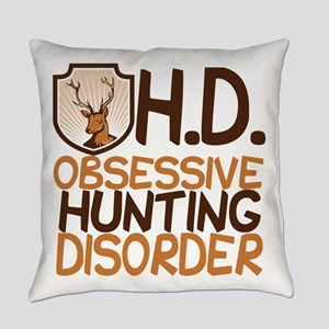 Funny Hunting Everyday Pillow