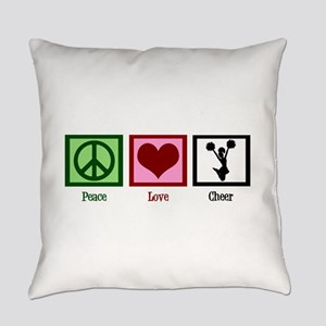 Peace Love Cheer Everyday Pillow