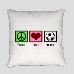 Peace Love Soccer Everyday Pillow
