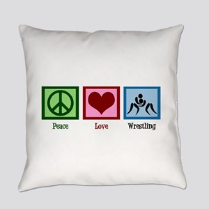 Peace Love Wrestling Everyday Pillow
