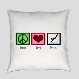 Peace Love Diving Everyday Pillow