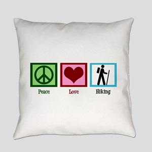 Peace Love Hiking Everyday Pillow