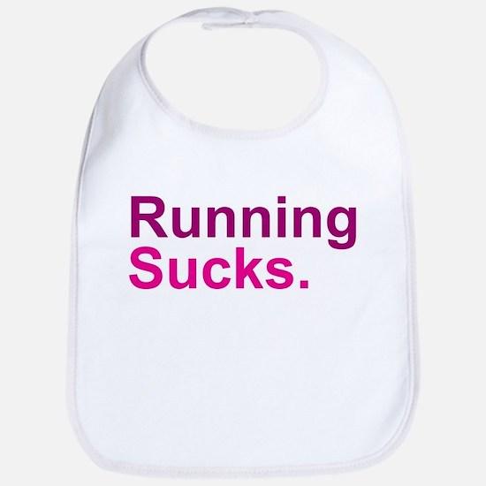 Running Sucks Pink Bib
