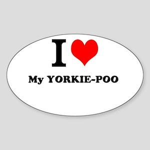 I love My YORKIE-POO Sticker