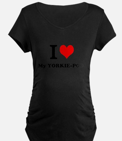 I love My YORKIE-POO Maternity T-Shirt