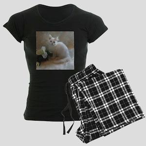 cute siberian colorpoint whi Women's Dark Pajamas