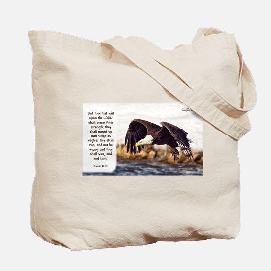 Mount On Wings As Eagles (right) - Isaiah Tote Bag