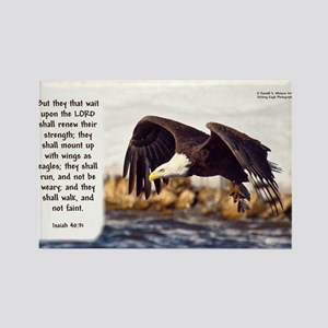 Mount On Wings As Eagles (left) - Isaiah Magnets