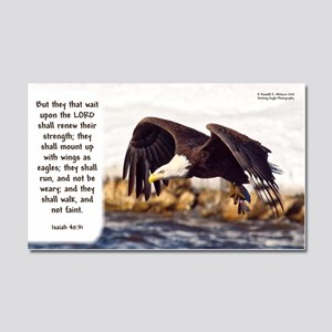 Mount On Wings As Eagles (left) Car Magnet 20 X 12