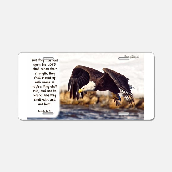 Mount On Wings As Eagles Aluminum License Plate