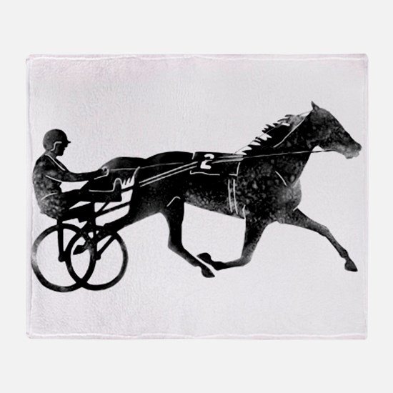 Unique Horse racing Throw Blanket
