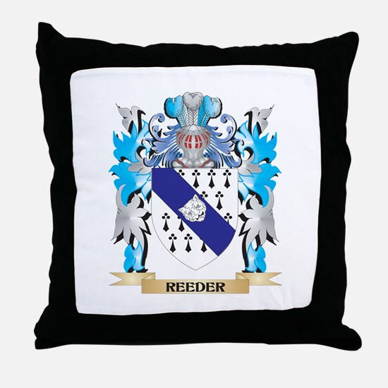 Reeder Coat of Arms - Family Crest Throw Pillow