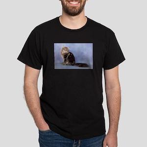 cute siberian tabby cat sideways T-Shirt