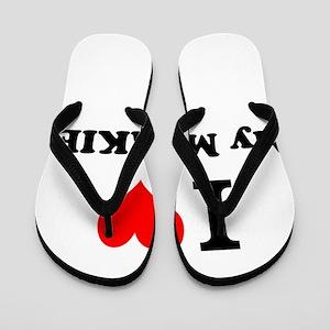 I Love My MORKIE Flip Flops