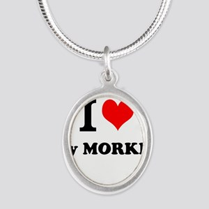 I Love My MORKIE Necklaces