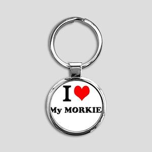 I Love My MORKIE Keychains
