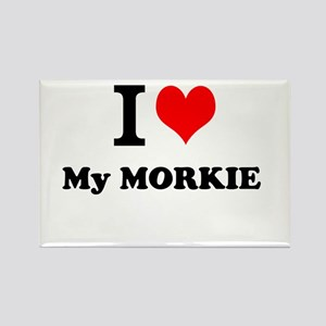 I Love My MORKIE Magnets