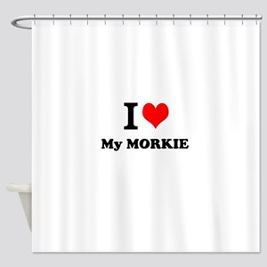 I Love My MORKIE Shower Curtain