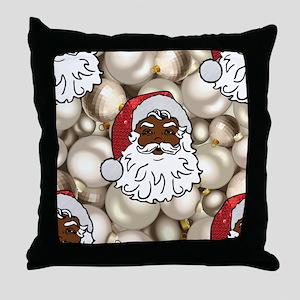 african santa claus Throw Pillow