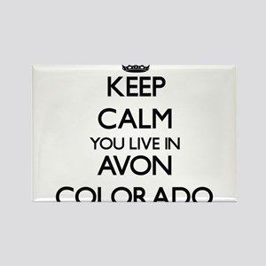 Keep calm you live in Avon Colorado Magnets