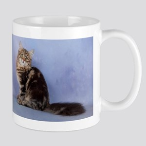 cute siberian tabby cat sideways Mugs