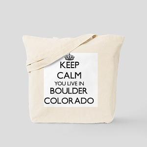 Keep calm you live in Boulder Colorado Tote Bag