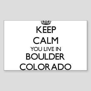 Keep calm you live in Boulder Colorado Sticker