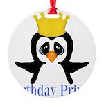 Birthday Prince Penguin Ornament
