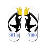 Birthday Prince Penguin Flip Flops