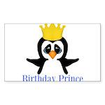 Birthday Prince Penguin Sticker